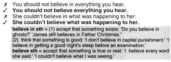 belive-sth-believe-in-sth