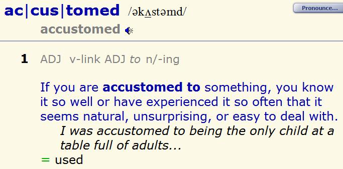 Адаптированный английский - accustomed